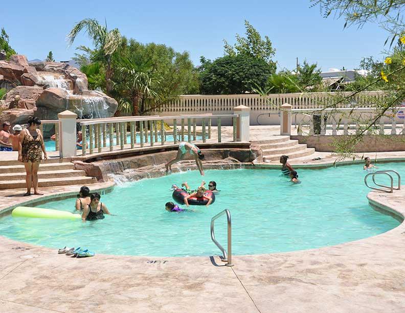 Two Level Pool Nevada Treasure Rv Resort
